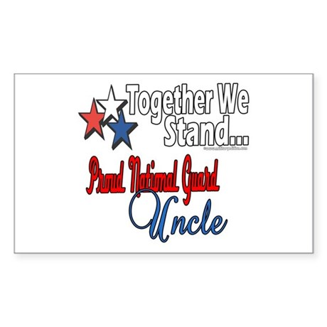 Proud National Guard Uncle Rectangle Sticker
