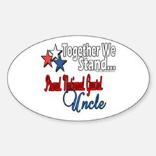 Proud National Guard Uncle Oval Decal