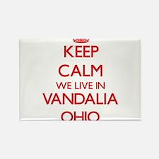 Keep calm we live in Vandalia Ohio Magnets