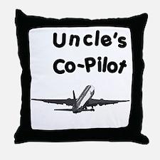 Uncle's copilot Throw Pillow