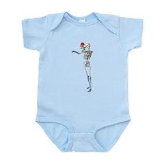 Halloween Skeleton With Rose Infant Bodysuit