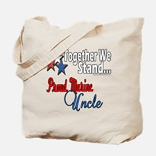 Proud Marine Uncle Tote Bag