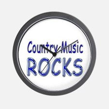 Country Music Rocks Wall Clock