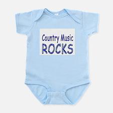 Country Music Rocks Infant Bodysuit