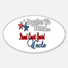 Proud Coast Guard Uncle Oval Decal