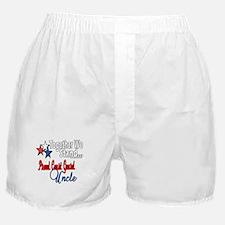 Proud Coast Guard Uncle Boxer Shorts