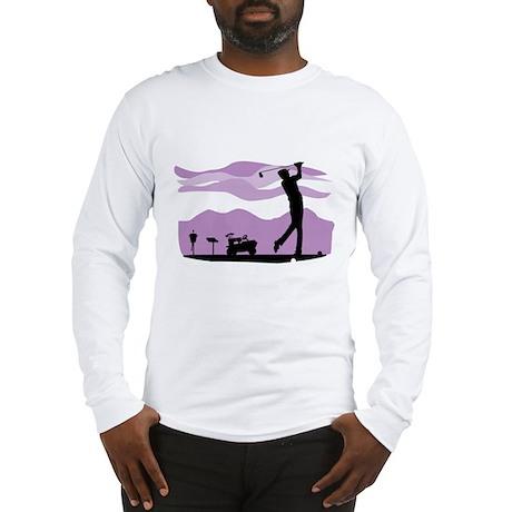 Silhouette Of A Golfer Long Sleeve T-Shirt