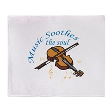 MUSIC SOOTHES THE SOUL Throw Blanket