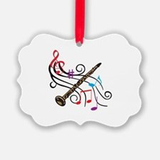 CLARINET WITH MUSIC Ornament