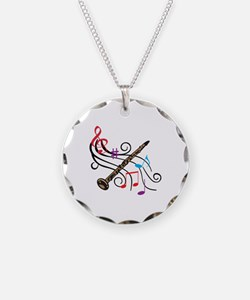 CLARINET WITH MUSIC Necklace