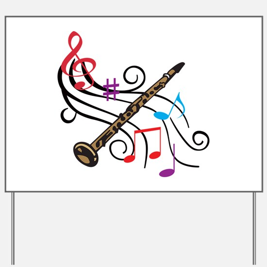 CLARINET WITH MUSIC Yard Sign