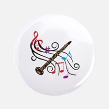 """CLARINET WITH MUSIC 3.5"""" Button (100 pack)"""