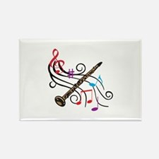 CLARINET WITH MUSIC Magnets
