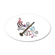 CLARINET WITH MUSIC Wall Decal