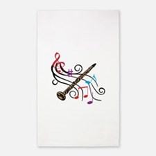 CLARINET WITH MUSIC Area Rug