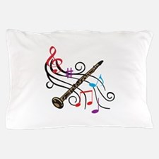 CLARINET WITH MUSIC Pillow Case