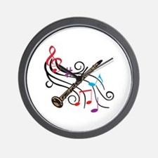 CLARINET WITH MUSIC Wall Clock