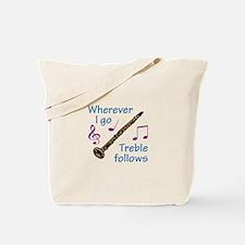 TREBLE FOLLOWS Tote Bag