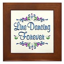 Line Dancing Forever Framed Tile