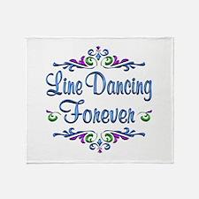 Line Dancing Forever Throw Blanket