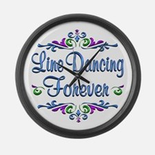 Line Dancing Forever Large Wall Clock