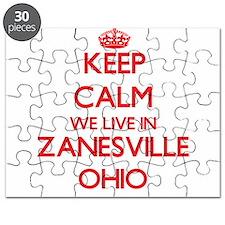 Keep calm we live in Zanesville Ohio Puzzle
