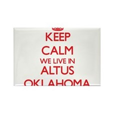 Keep calm we live in Altus Oklahoma Magnets