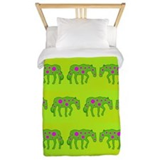 Cute Colorful horse pattern Twin Duvet