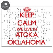 Keep calm we live in Atoka Oklahoma Puzzle