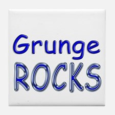 Grunge Rocks Tile Coaster