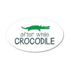 After While Crocodile Wall Decal
