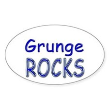 Grunge Rocks Oval Decal