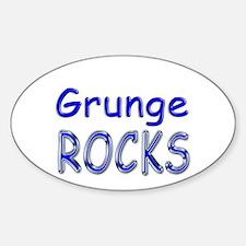 Grunge Rocks Oval Decal