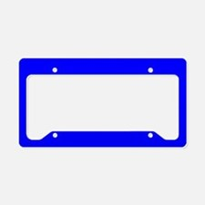 License Plate Holder Uni Royal Blue