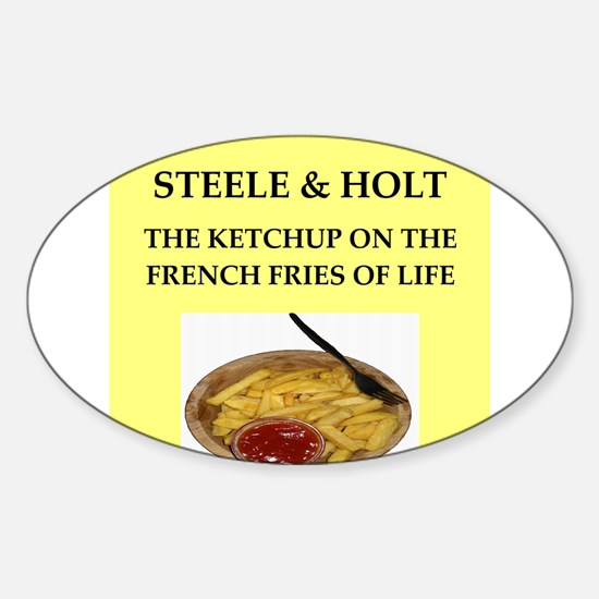 steele and holt Sticker (Oval)