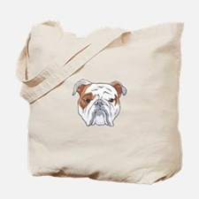 ENGLISH BULLDOG HEAD Tote Bag