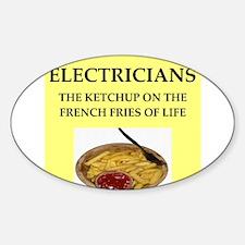 electrician Sticker (Oval)