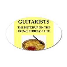 guitar 35x21 Oval Wall Decal