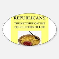 republicans Sticker (Oval)