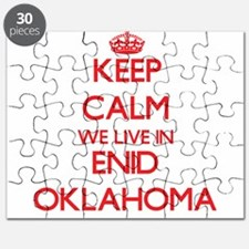 Keep calm we live in Enid Oklahoma Puzzle