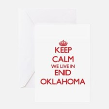 Keep calm we live in Enid Oklahoma Greeting Cards