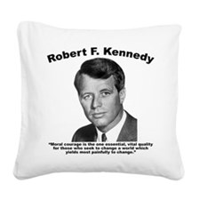 RFK: Courage Square Canvas Pillow