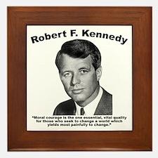 RFK: Courage Framed Tile