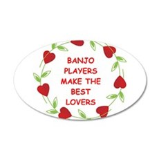 BANJO.png 20x12 Oval Wall Decal