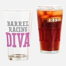 Barrel Racing DIVA Drinking Glass