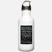 Blessed are the weird people Water Bottle