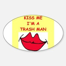 TRASH.png Sticker (Oval 10 pk)