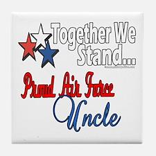 Proud Air Force Uncle Tile Coaster