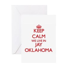 Keep calm we live in Jay Oklahoma Greeting Cards
