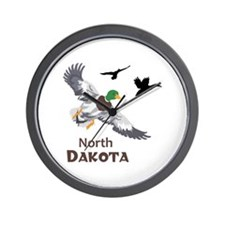 MALLARDS NORTH DAKOTA Wall Clock